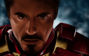Tony Stark (drawing) by p-shdw