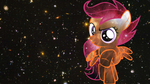 Scootaloo space wallpaper by DragonKittyPi