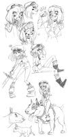 warrior princess sketch dump by Fukari