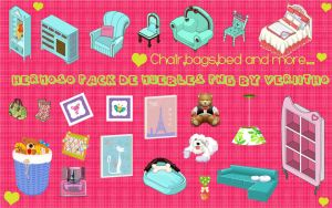 HermOso pack de muebles PNG by Veriitho