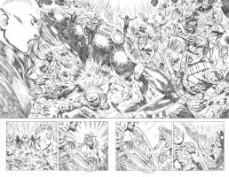 Teen Titans #16 Pages 7 and 8 by mikemaluk