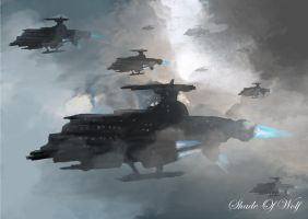 Gunships Speedpaint by shade-of-wolf
