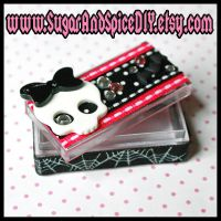 Skull and Bats CREEPY CUTE Box by SugarAndSpiceDIY