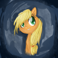 Wet-mained Applejack by Reporter-Derpy