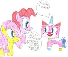 Unikitty meets Ponies by SithVampireMaster27