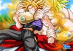 Broly y Trunks by Sersiso