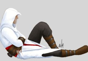 Sleepy Altair by seshatgirl