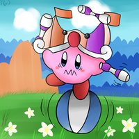 Kirby Tuesday-circus kirby by thegamingdrawer