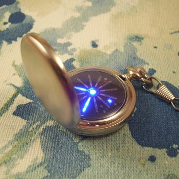 Steampunk meets Star Trek. LED pocket watch. by ScatterbrainEmp