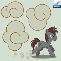 Resource, PS Brush: MLP Gallop Clouds by Gray--Day