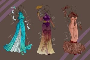 ADOPTABLE: Evening Gowns [CLOSED] by Ishicle