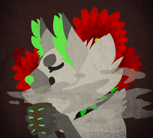 Red flowers by CremexButter