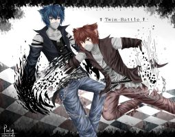 Twin battle by Pinlin