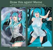 Draw this again: Miku by Almerious