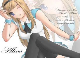 Midnight Alice Wallpaper by blackcat-productions