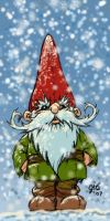 Tomte in Snow by Gib-Art-and-Pinups