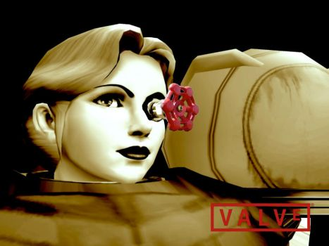 Samus Aran - The Valve Logo by SuperMario811
