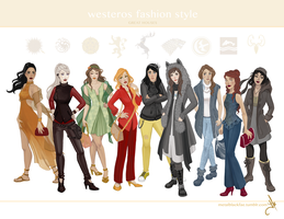 Westeros fashion style by julsillustrated