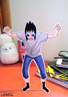 Tremble... Or not. - Sasuke Paperchild by MlleLowra