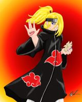 Deidara Colored by Domodrake