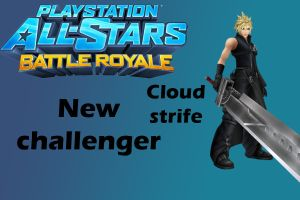 Playstation all-stars battle royale Cloud moveset by CapcomGuy