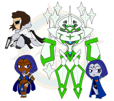 Assorted Chibis - Set 4 by Dragon-FangX