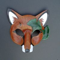 Ginkgo Fox Mask, version one by merimask