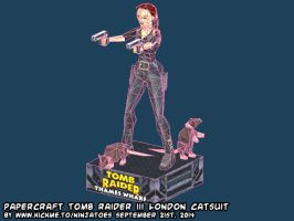 Papercraft Tomb Raider 3 catsuit vignette WIP2 by ninjatoespapercraft
