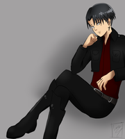 SnK : Rivaille by xXRyushi