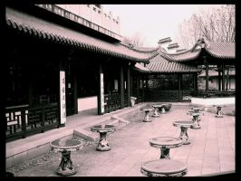 Chinese Tea House: Yard by deadward1555
