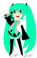 Miku Cartoone by Otakon7