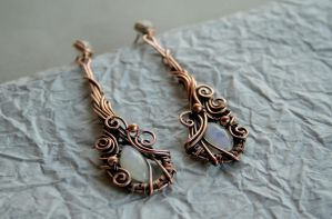 Paisley Copper Earrings by Bodza