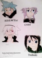 Some Soul eater Characters by MoffAnimeTeeny