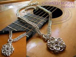 Celtic Star Necklace in Silver by ChainedBeauty