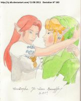 Malon and Link kiss 3 by CJ-DB