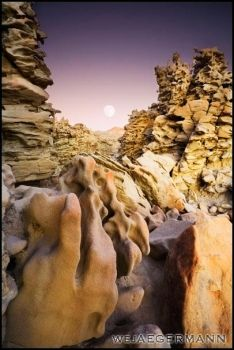 Moonrise Above Fantasy Canyon by Obscurantic