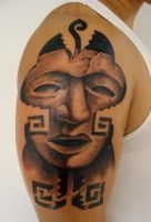 aztec mask 002 by tattoosbygoethe