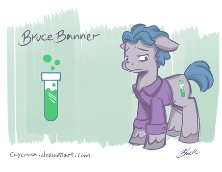Avengers/MLP Crossover - Bruce Banner by caycowa