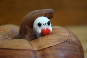 Miniature Felted Ghost by xxNostalgic