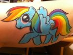 Rainbow Dash- Face Paint by sazmullium