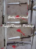 Knife,Dagger Package by gothfiend-stock