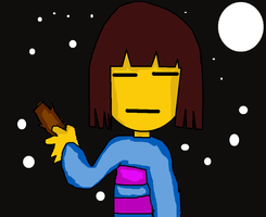 Frisk and moon by benjabb23