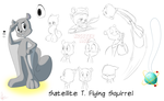 Satellite Flying Squirrel Model Sheet by KicsterAsh