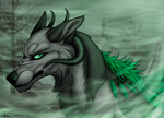 Misted stare [YCH] by Dachiia