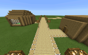 Starting on MCPE town (read description) by Confused-Flame