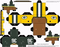 Nick Collins Packers Cubee by etchings13