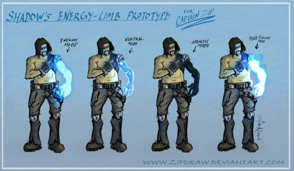 Captain Zips Prototype Arm by ZipDraw