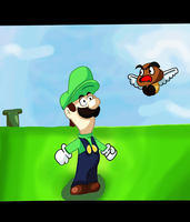 Anime-ish Luigi and Goomba by gamerman77