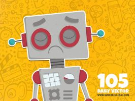 Daily Vector - 105 (Sad robot) by KellerAC