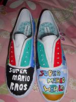 Super Mario Shoes pic. 1 by Sagojyousartpage